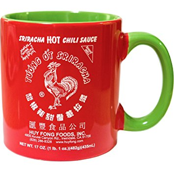 Sriracha Hot Sauce Red And Green Ceramic Mug