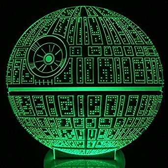 M.Sparkling Creative 3D LED Lamp Star Wars The Death Star Shape Table Lamp