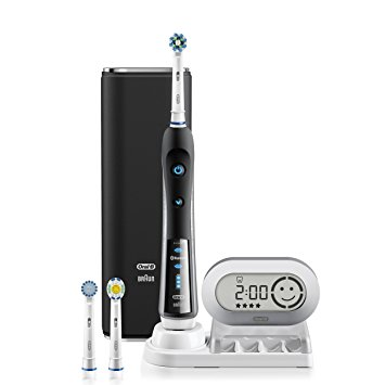 Oral-B Pro 7000 SmartSeries Black Electronic Power Rechargeable Toothbrush with Bluetooth Connectivity Powered