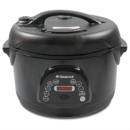 Shamrock 6.5 Qt Nonstick Pressure Cooker with Voice Command