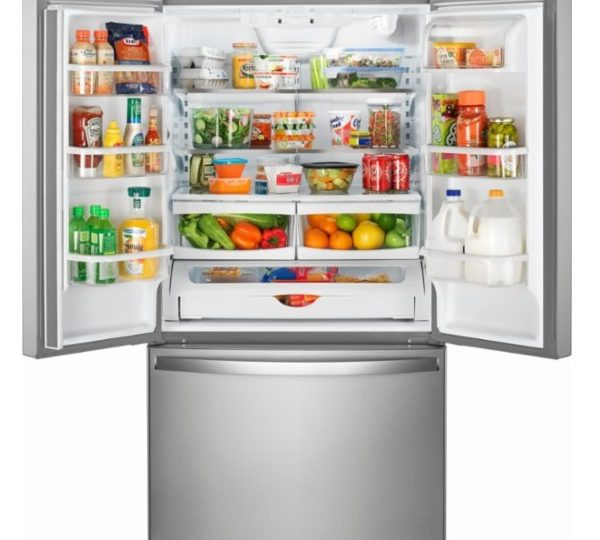 Whirlpool 252 Cu Ft French Door Refrigerator With Internal Water