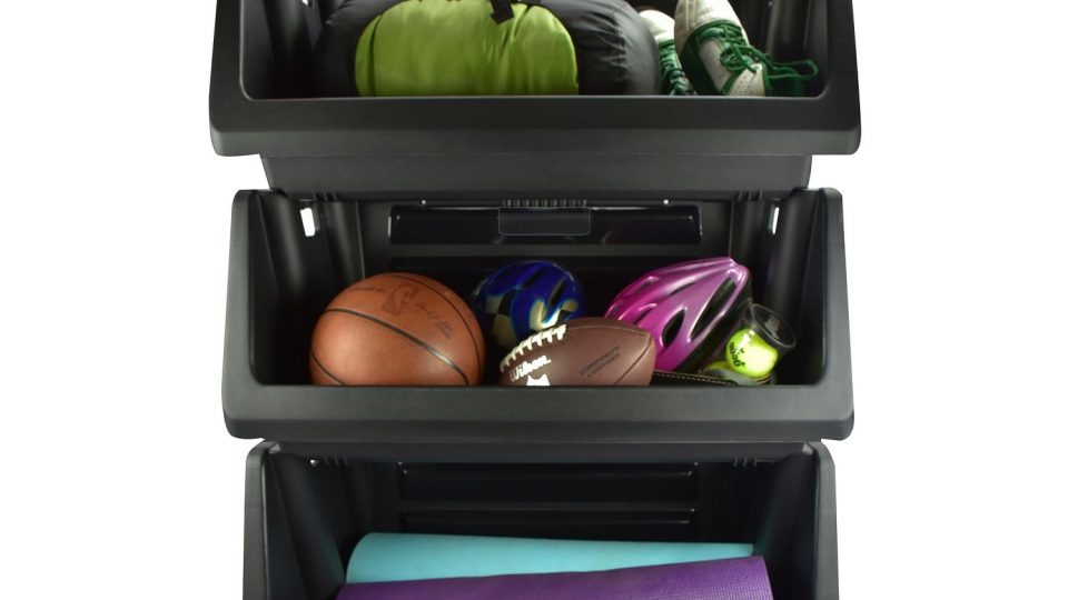 sams club offers these muscle rack stackable storage bin in black 3 pack for 27 retail price was 32 each storage bin can hold up to 100 pounds and - Stackable Storage Bins